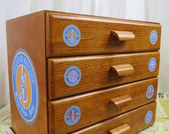Sajou Wooden 4 Drawer Haberdashery Chest Sewing Box