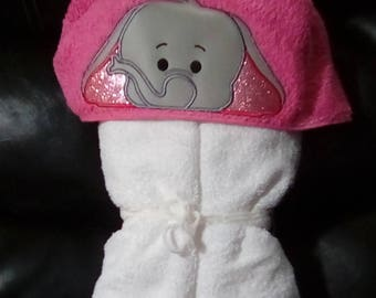 Elephant Hooded Towel - Personalized Towel -Hooded Towel - Child's Hooded Towel