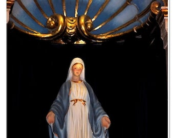 Mary Cathedral Statue Photograph