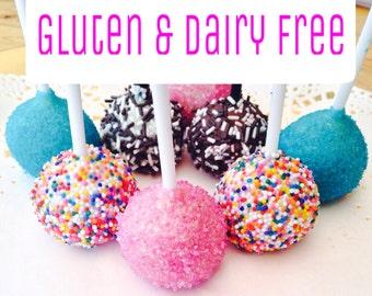 12 Gluten & Dairy Free Sparkly Cake Pops x