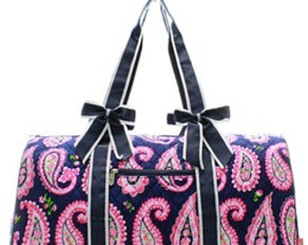 Monogrammed Ladies Large Weekend Bag duffle, duffle, luggage, quilted duffle bag, personalized duffle bag, monogrammed duffle bag, large bag