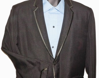 1960s Mens Tuxedo Jacket 38R Vintage Retro Rat Pack