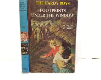 Hollow Book Safe The Hardy Boys Footprints Under the Window Cloth Bound vintage Secret Compartment Box Hidden Security Box