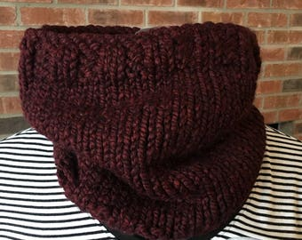 Warm Cozy Burgundy Cowl