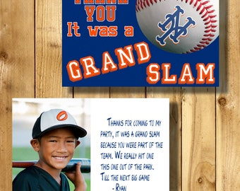 New York Mets 4x6 Thank You Note Cards