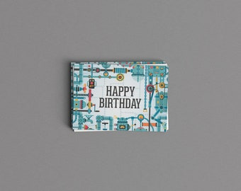 Digital Download Industrial Robot Birthday Card