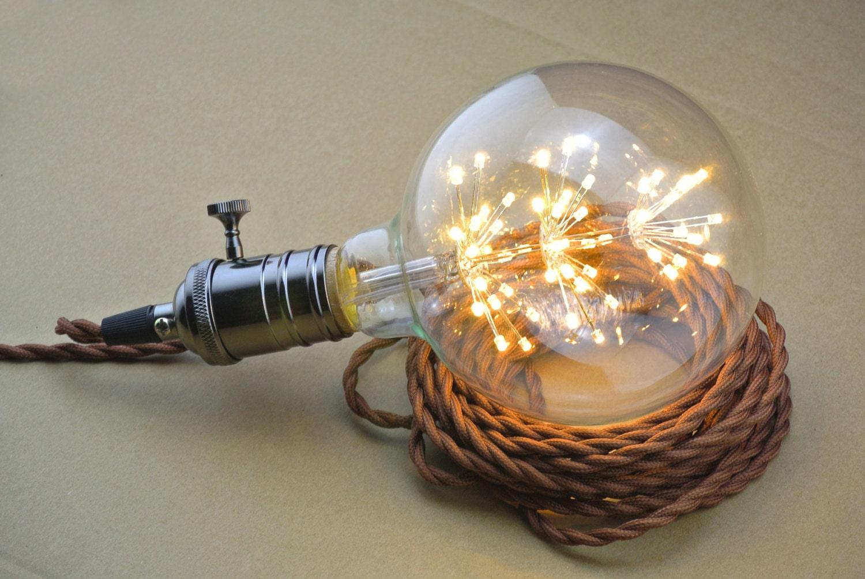 Feuerwerk LED UL Socket Twisted Gewebe Draht Decke Anhänger