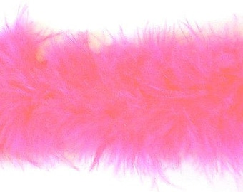 Hot Pink Marabou Feathers Ribbon Trim - Craft, Costume, Millinery Trim - Sold by the Yard