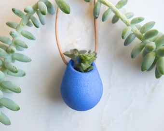Wearable Planter No. 1, in Cobalt Blue