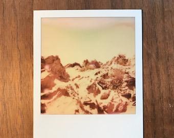 Rocks of Mars Impossible Project Landscape Polaroid