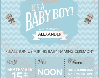 Blue baby boy party printables package