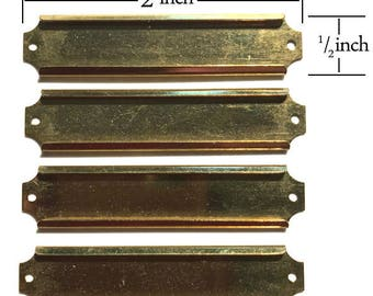 Brass Name Plate, Set of Four