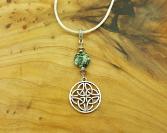 Celtic Knot Tree Agate necklace