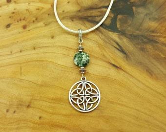 Sale~ Celtic Knot Tree Agate necklace