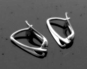 EXCLUSIVE Sterling Silver Lever Back ear hooks earrings