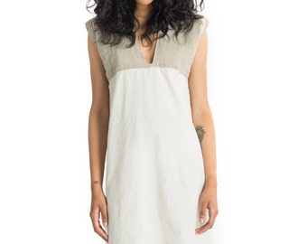 Pretty Birdie's Hemp and Organic Cotton Muslin and Sheer Hemp Linen Shift Dress