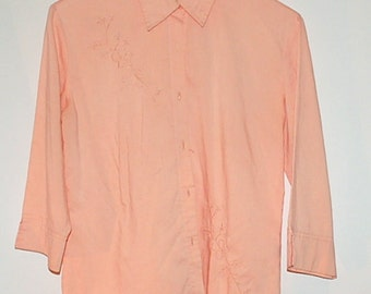 Vintage Peach shirt blouse