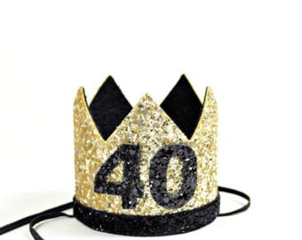 Adult Birthday Crown   21st Birthday   30th Birthday Crown   Thirtieth Birthday Party Hat   Dirty 30   Adult Party Hat Crown   any Number