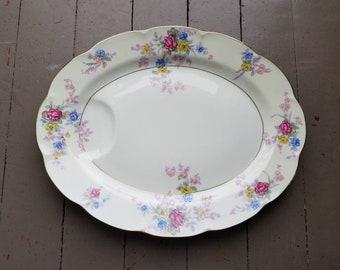 "Vintage Haviland Avalon Pattern 14"" Serving Platter"