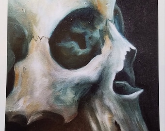Skull (#4) Signed Art Print by Jacoba (8x11)