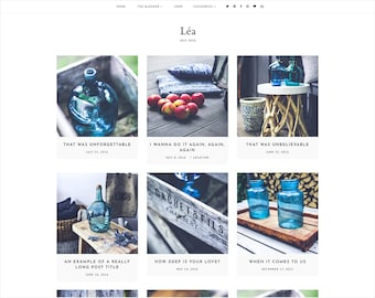 Léa | Responsive Blogger Template + Free Installation