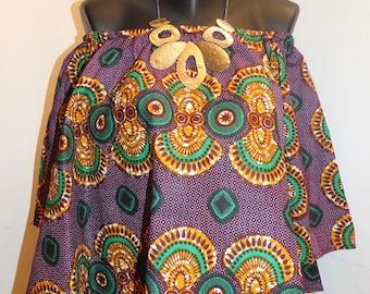 African print top, wax garment, wax fabric, african tunic, african blouse, ankara top, african loincloth,