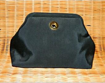 80s vintage black clutch