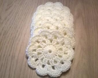Handmade Crochet Coasters pack of 6