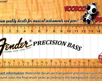 Fender Precision Bass 70s Waterslide Decals