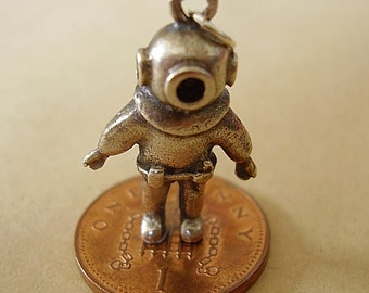 Sterling Silver Deep Sea Diver Charm