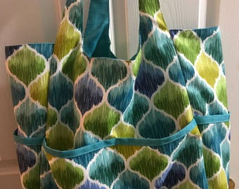 Beach Bags by Photo-Totes - Blue Green Drops