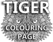 Tiger Colouring Page...