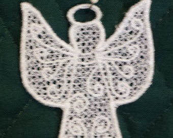Freestanding lace ornament