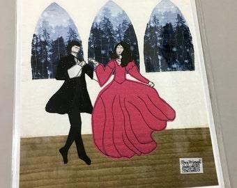 "8"" x 10"" Fabric Art Print - Dancing at the Ball"