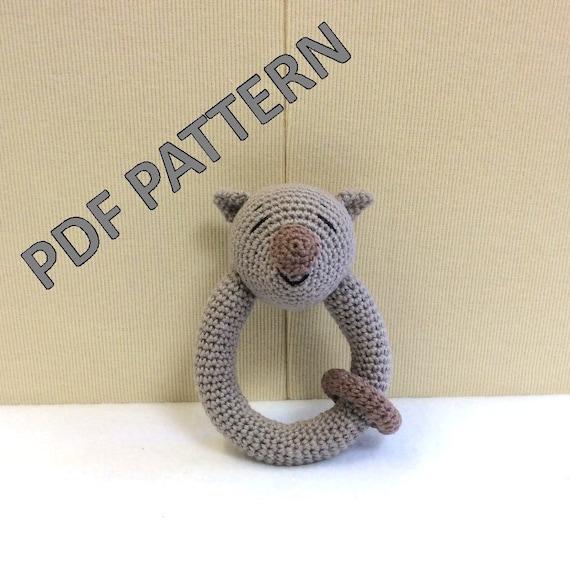 Crochet Pattern Wombat Baby Rattle Crochet Pattern Australian
