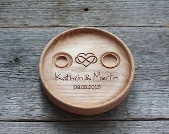 Ring dish Wedding ring bearer alternative Wedding ring dish bowl Wedding ring holder 5th Anniversary gift Infinity Love