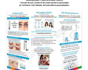 "Rodan and Fields 2018 U.S. Brochure. Personalized 8.5x11"" digital or printed design. Best Seller! Include your contact at checkout.."