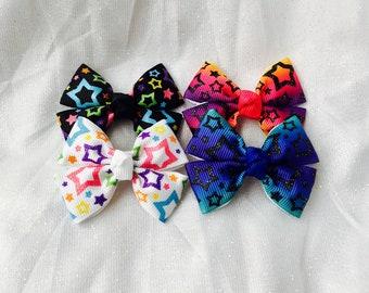 Baby hair bows mini hair bows star hair bows star hair clips baby hair clips toddler hair bows non slip hair clips mini hair clips
