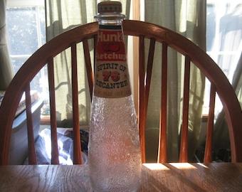 Vintage Hunt's Ketchup Glass Bottle, Spirit Of 76 Decanter