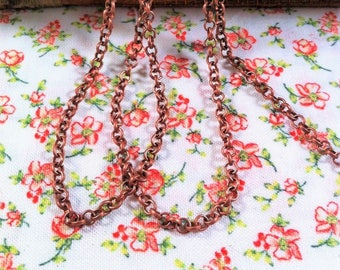 small round link copper 3 mm by 50 cm chain