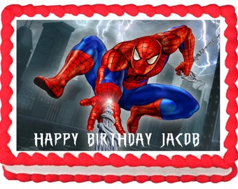SPIDERMAN edible cake topper party Image decoration