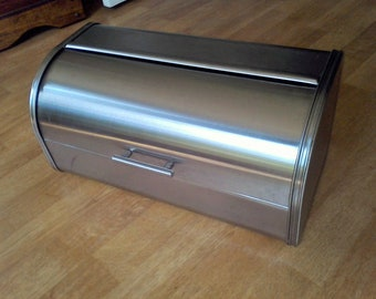 Chrome bread Box compact bread box kitchen storage