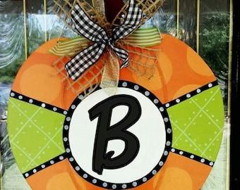 Pumpkin Door Hanger, Halloween Door Hanger, Fall Door Hanger, Pumpkin Door Decor,