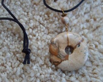 Brown Chinese Pi Ring Pendant, Brown Life Saver Pendant, Chinese Pi Ring Pendant,  Brown Accessories