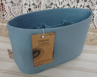 Sky Blue / Purse ORGANIZER Insert SHAPER / Flexible or Stiff Bottom/ STURDY / 5 Sizes Available/Check out my shop for more colors & styles
