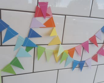 Tiny Rainbow Paper Bunting Banner / Cake Topper