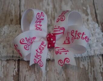 Boutique Little Sister Infant/Toddler Headband New Baby Gift Little Sister Headband