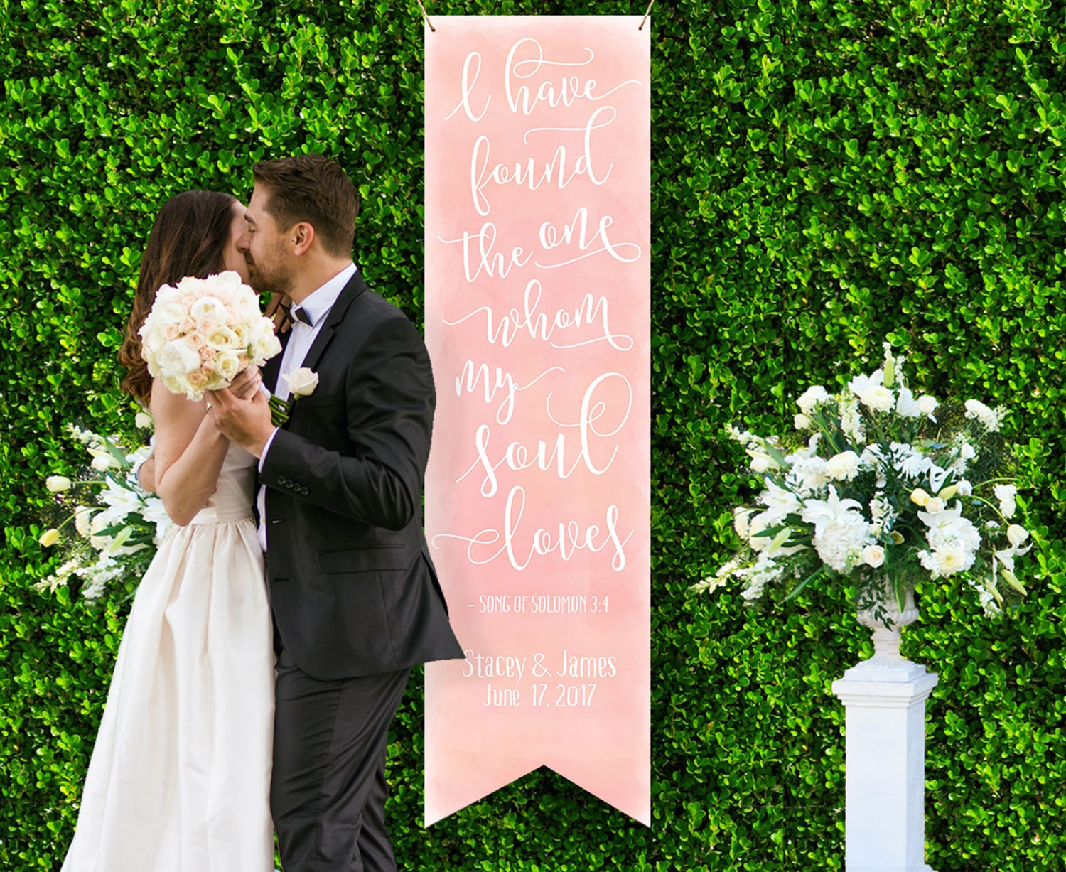Wedding Backdrop Sign Decor for Ceremony or Reception