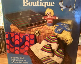 Vintage needlework book, Annette Feldman, The needlework boutique, vintage sewing book, vintage craft, vintage embroidery needlework pattern