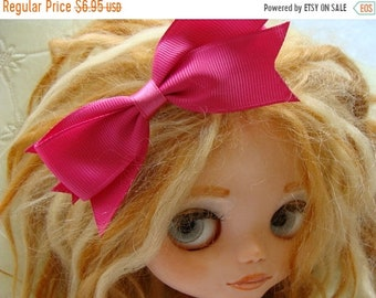 ONSALE Gorgeous High End Pretty Fuchsia Pink Hair Bow for Blythe